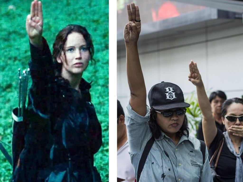 Mocking Jay hand salute banned in Thailand